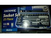 Kincrome 23 piece socket set bnip