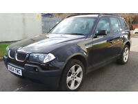 2004 54 BMW X3 2.0D SE BLACK MOT 04/17(PART EX WELCOME)