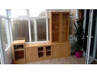 Wood Furniture Set - Drawers, TV / HiFi Cabinets and Display Unit