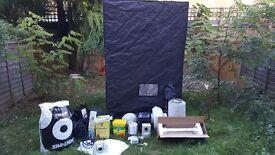 QUALITY GROW KIT (inc. brand new items) Secret Jardin Tent, carbon filter, Hydroponic Lighting