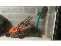 Lawnmower and Grass Trimmer.