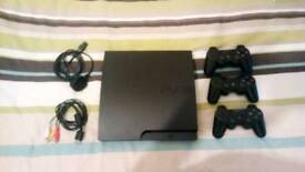 Ps3 slim edition 160 gb + 3 controllers and 9 games