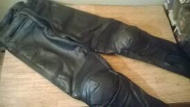 osx leather biker trousers