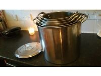 5 Stock Pots with Lids