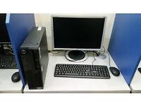 Lenovo PC + 19'' monitor, Intel Core i5 2.67 GHz, 4GB RAM, 1000GB HDD, Nvidia Graphics, Windows 7