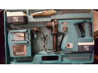 Makita 24v cordless drill hammer & chisel action