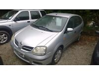 Nissan almera tino s automatic 2005-reg, 1800cc, only 80,000 miles, new mot on purchase,