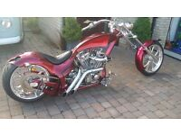Chopper motorcycle, custom build, war eagle frame, 113ci S&S motor, air ride, 300 rear wheel