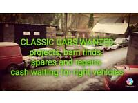 Classic cars, barn finds projects wanted !!!