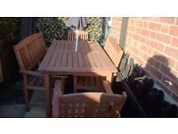 Woodern garden furniture
