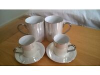 Mother of Pearl coffee cup and mug set