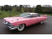 Vintage Wedding Car Hire Classic 1959 Cadillac Coupe De Ville Elvis 50s Rock n Roll birthday