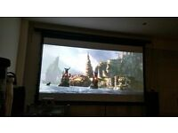 "Optoma projector hd141x 1080p HD, 3D, top of the range & 120"" motorised screen"