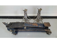 1.5 ton trolly jack and axle stands