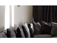 Prado Modular Corner Sofa - Chocolate Brown & Mink - Excellent Condition. Bargain £295.