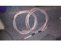 2x 2.8m QED Ruby Anniversary Speaker cable terminated