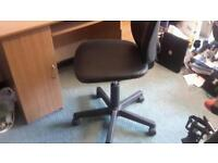 Office chair, adjustable, wheels, used