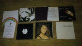 7 x mariah carey vinyls LP / 12 inch / promo press release