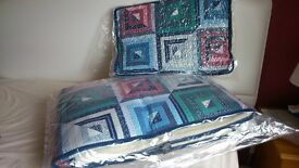 bed cover and pillow