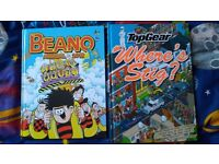 Beano Annual + TopGear where's stig plus 14 FREE Annuals