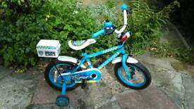 Halfords blue police bike hardly used