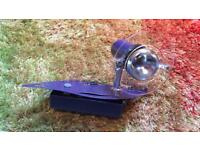 Metallic blue kids/children's wall light