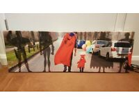 Superman & invisible hero's pop art - DELIVERY AVAILABLE