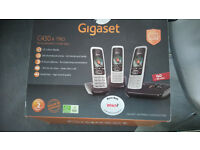 Gigaset C430 set of 3 phones only 6 months old with call block and answerphone
