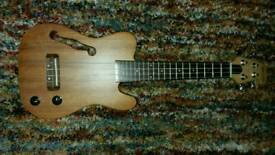 Clearwater solid bodied electric ukulele