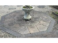 2 Sets of Hexagonal Feature Patio Slabs
