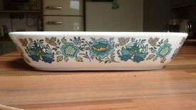 Royal Doulton Everglades pattern china casserole dish