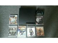 Ps3 slim with games and controller main cable included