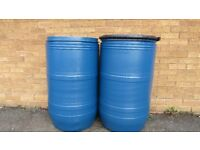 Storage barrel PLASTIC & METAL