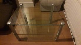 Glass tv or stereo stand