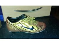 New Gold Nike Football Studs Size 4