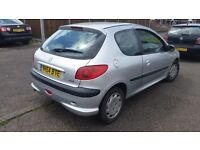 Peugeot 206 LX 1.2 patrol manual 3-door 150k service history px to clear