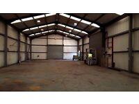 Workshop ideal for manufacturing or storage.