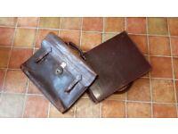 Vintage leather satchel / briefcase