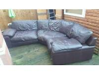 DFS LEATHER CURVED CORNER SOFA