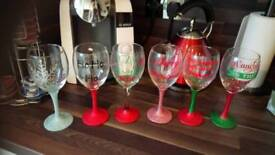 6 x Xmas glasses immaculate £15ono