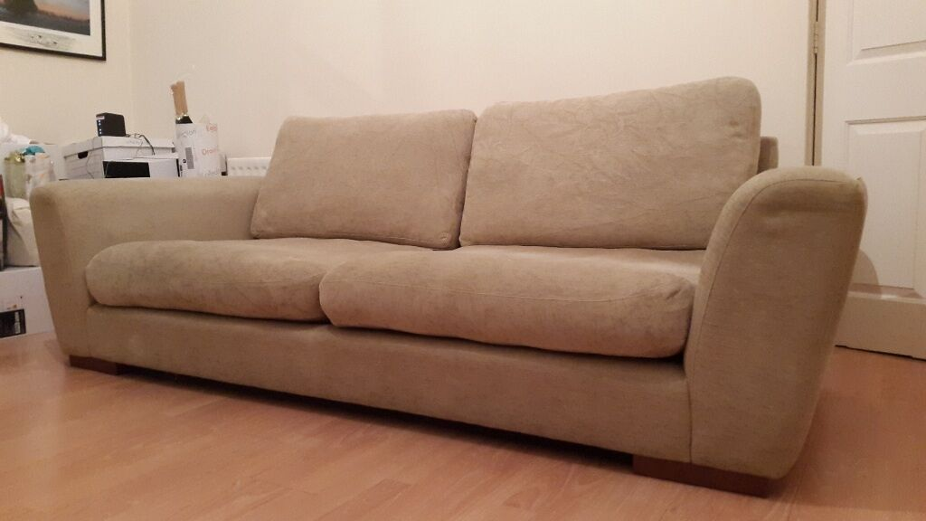 Heals 4 seater large slouch sofa in maida vale london for Sofa 4 meter