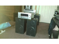 SANYO Speakers+Stereo Amp Reciver