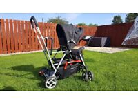 Joovy Caboose double pushchair two seater tamdem