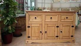 Pine side dresser