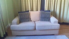 2 x three seater quality sofas