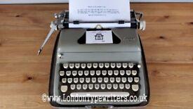 Working 1950's Everest Typewriter - New Ribbon, Case - London Typewriters