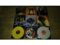 9 x bon jovi - vinyl collection LP's / colour vinyls / limited editions