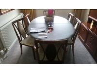 Brand new condition G plan carrick dining table and chairs