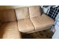 Leather corner sofa small