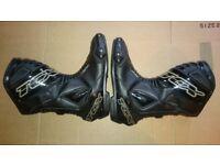 TCX waterproof motorcycle bike leather boot shoe size UK 8, EU 42 Honda Suzuki Dainese Alpinestars